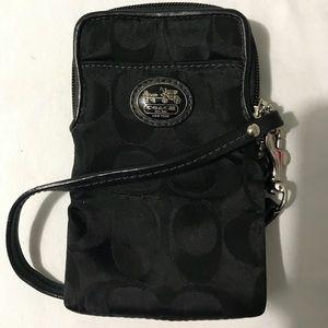 Coach phone case Wristlet